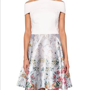 ted baker bardot dress patchwork new off shoulder